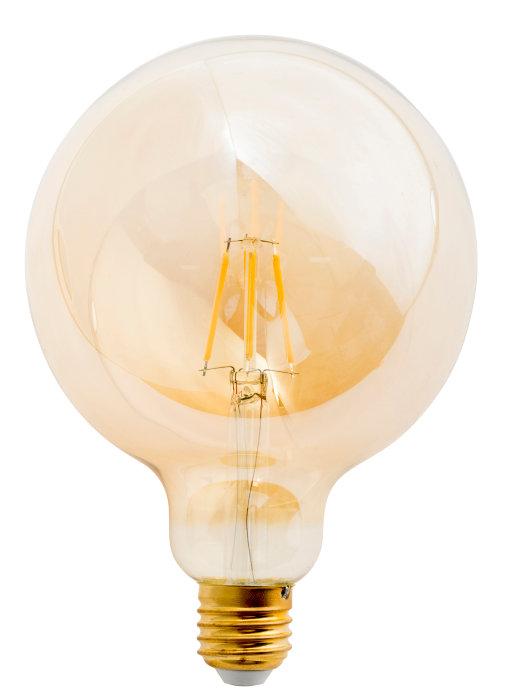 LED filamentpære 6W globe røgfarvet