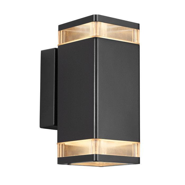 Nordlux Elm dobbelt væglampe sort