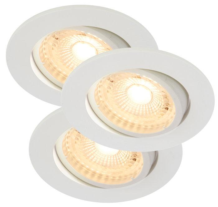 Inbyggnadsspot Auriga Vit LED IP20