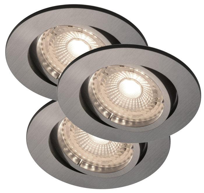 Inbyggnadsspot Auriga Nickel LED IP20