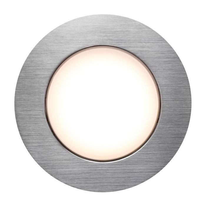 Nordlux Naos indbygningsspot børstet stål 3 stk.