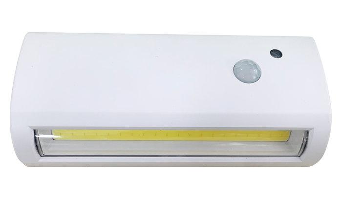 Vegglampe med sensor hvit 14,4 cm