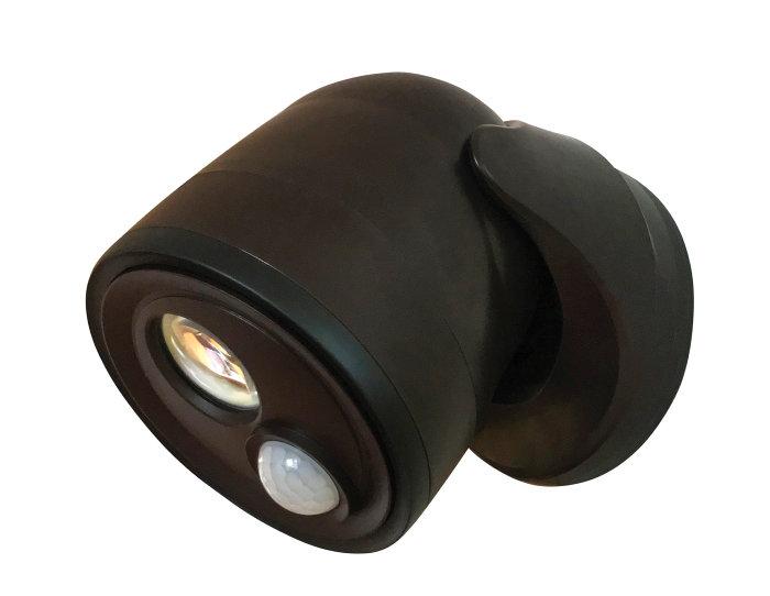 Væglampe med sensor sort