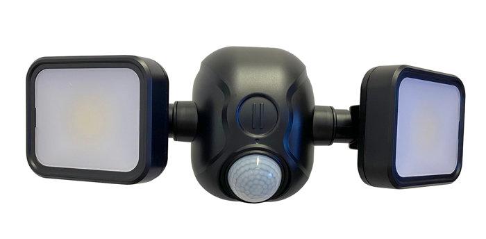 Sensorlampe sort med 2 COB lamper