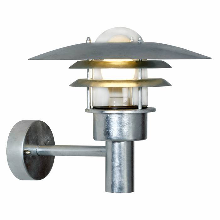 Nordlux Lønstrup 32 væglampe galvaniseret stål