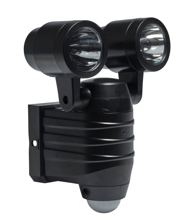a9e92230c23 Væglampe 2x5W LED med sensor sort | jem & fix