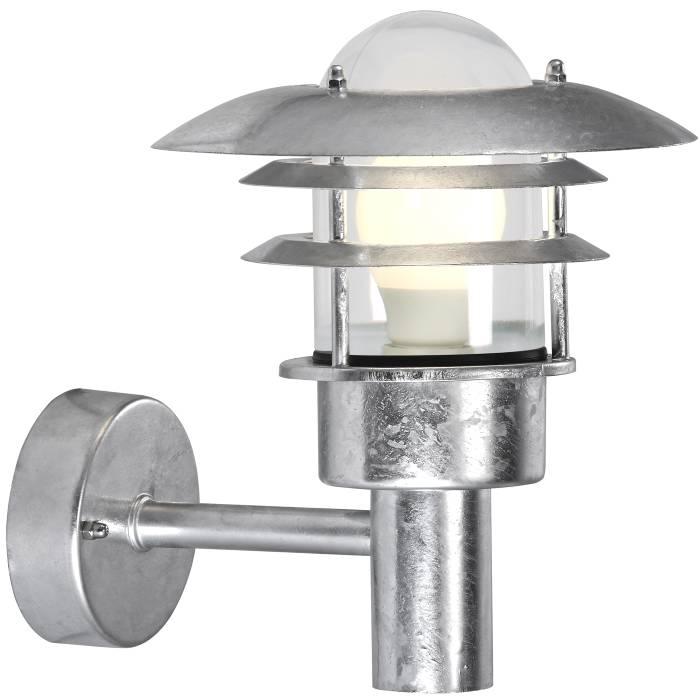 Nordlux Lønstrup 22 væglampe galvaniseret stål