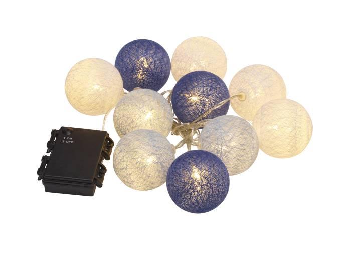 Alle nye LED-lyskæde med bomuldskugler udendørs | jem & fix NV39