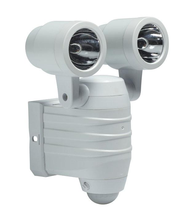 Væglampe 2x5W med sensor hvid