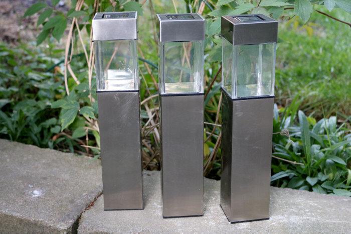 Solcellslampa rostfritt stål