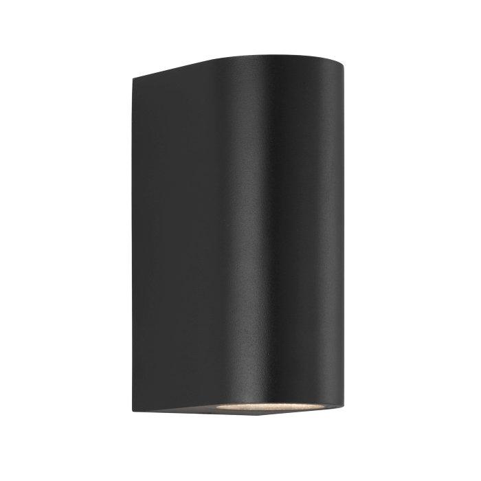 Nordlux Asbol dobbelt væglampe matsort