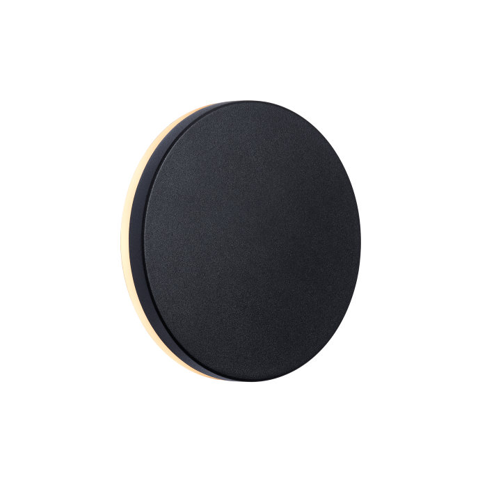 Nordlux Artego round væglampe sort