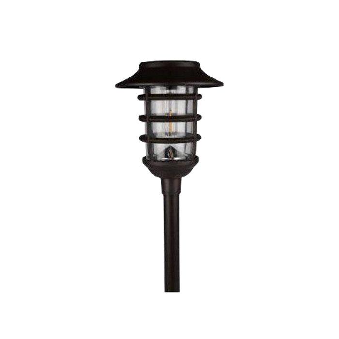 Solcellslampa Svart Metall