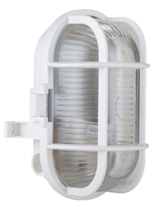 Oval lampe 60 w hvit
