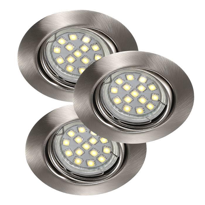 Nordlux Triton LED SMD indbygningsspot stål
