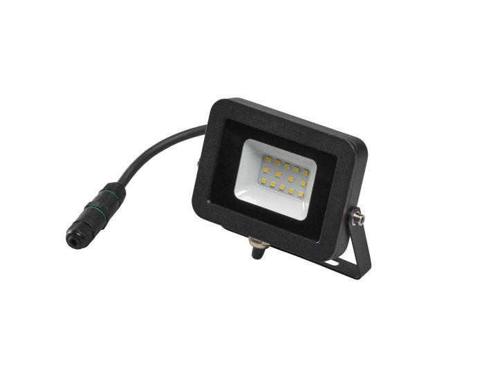 Arbeidslampe svart med 10W LED pære