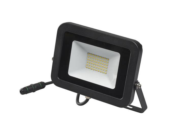 Projektør inkl. 50W LED-pære sort