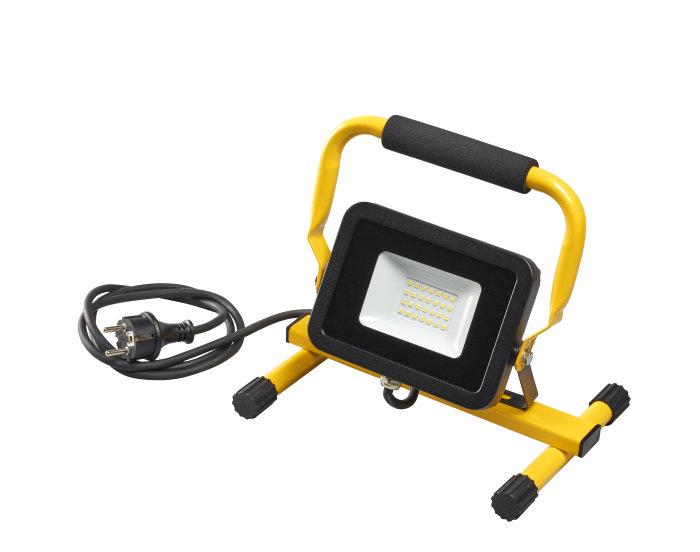 Arbeidslampe svart på stativ inkl. 20W LED-pære