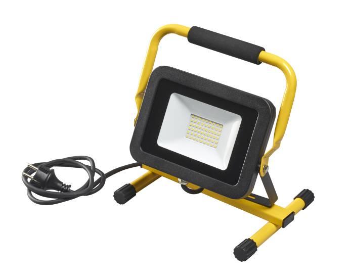 Projektør på stativ inkl. 50W LED-pære sort