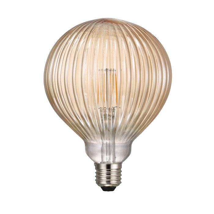 Nordlux Avra LED-filamentpære Stripes Amber 1,5W