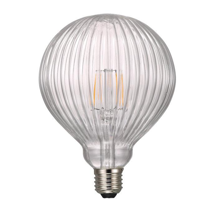 Nordlux Avra LED-filamentpære Stripes klar 1,5W