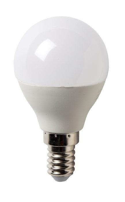 LED-pære krone 6W E14 4-pk
