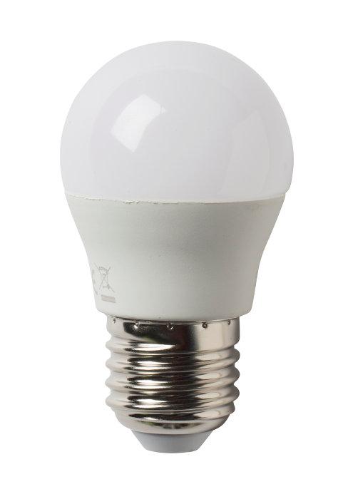 LED-pære krone 6W E27 4-pk