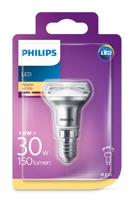 Reflektorlampa LED 1,8 / 30W E14