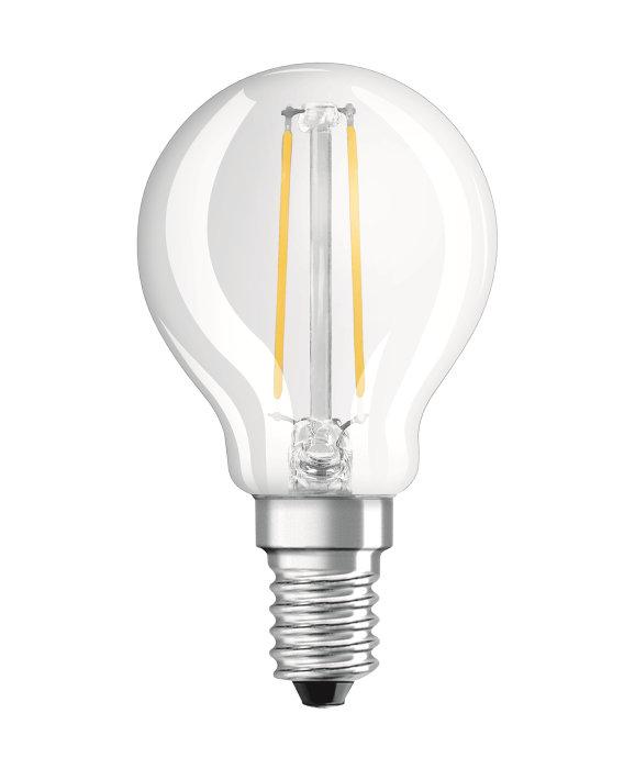 Osram LED Star Classic klar kronepære E14 2,5W