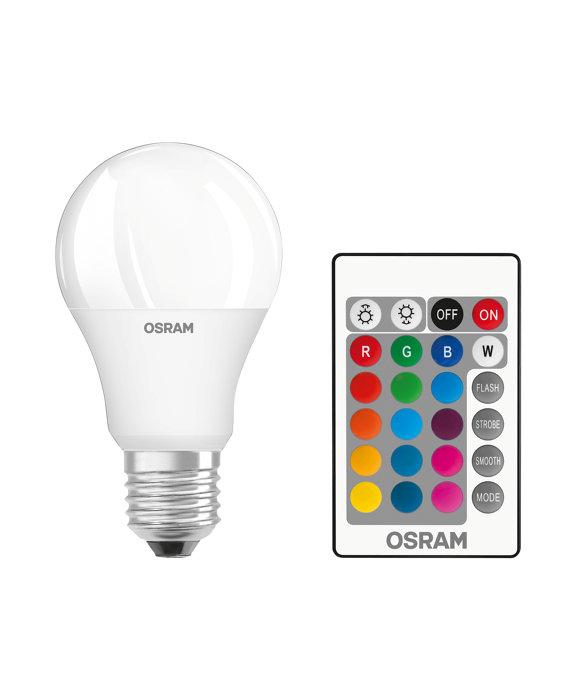 Osram LED standardpære med farveskift 9W