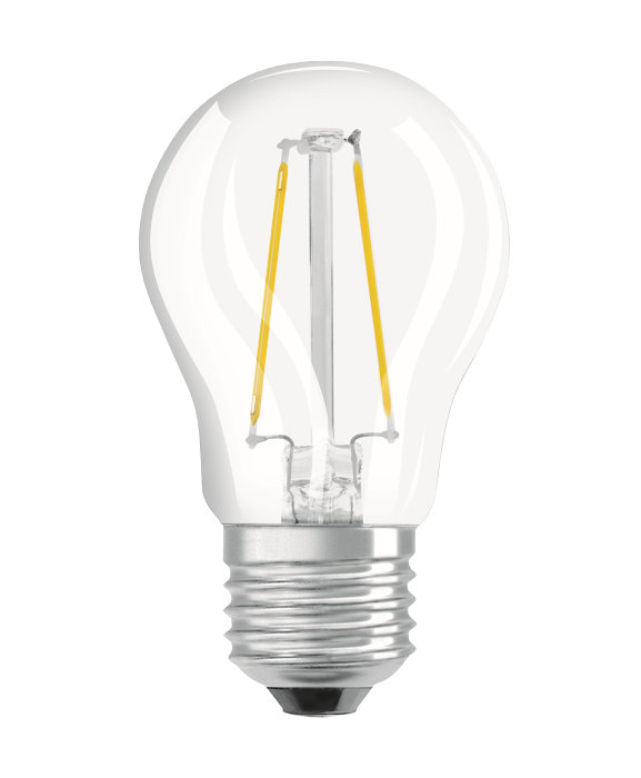 Osram LED Star Classic klar kronepære E27 2,5W
