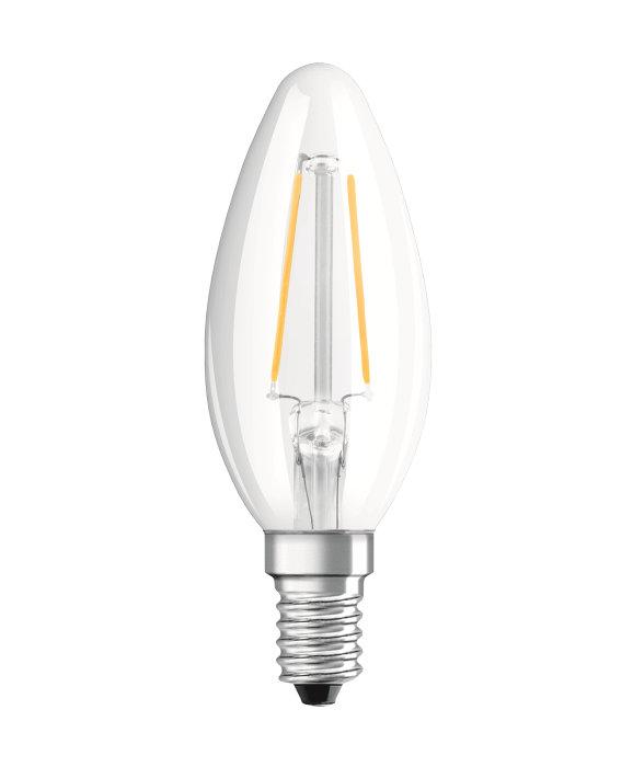 Osram LED Star Classic klar kertepære E14 2,5W