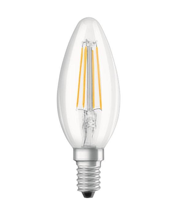 Osram LED Star Classic klar kertepære E14 4W