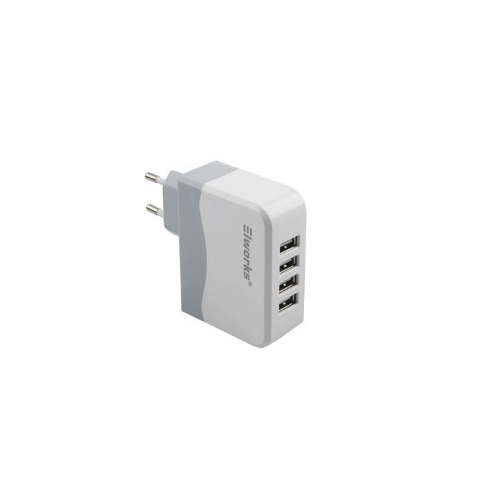 USB-lader med 4 udtag