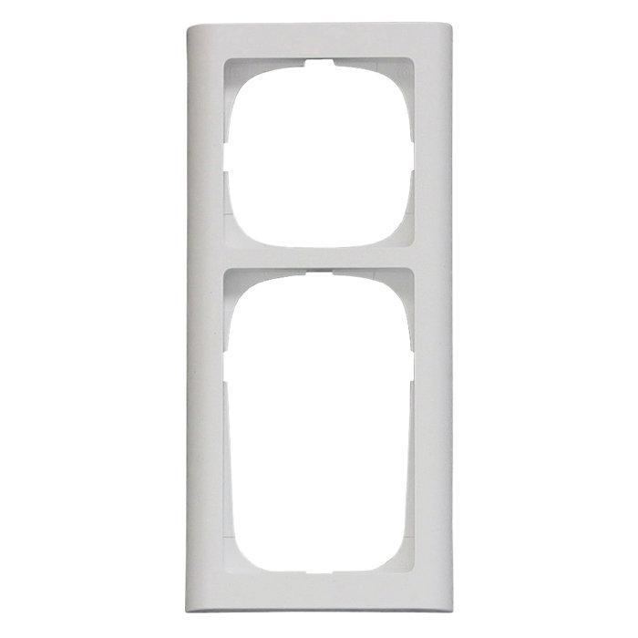 Fuga Softline ramme 63 afbryder + stikkontakt hvid