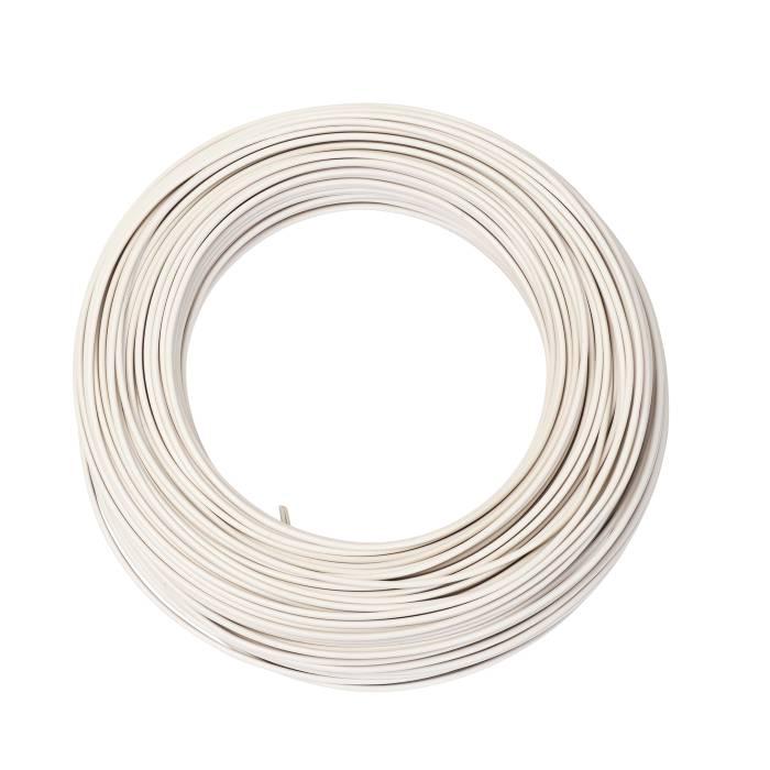 Installationskabel hvid 1 x 1,5 mm² 100 m