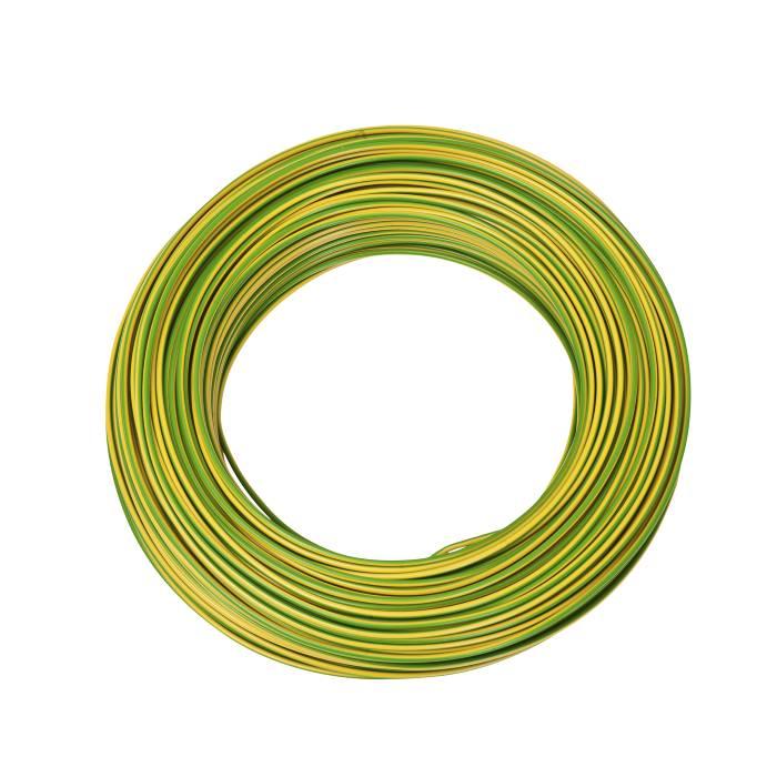 Installationskabel gul/grøn 1 x 1,5 mm² 100 m
