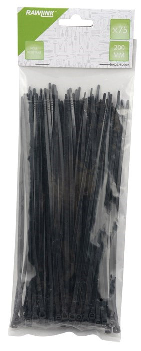 Buntband 200 x 3,6 mm Svart