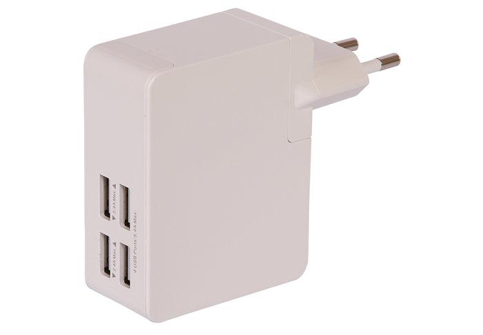 Oplader med 4 USB porte