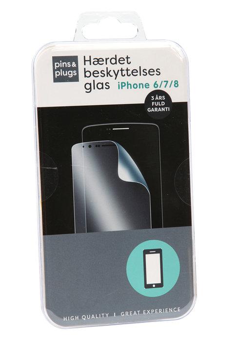 Hærdet beskyttelsesglas til iPhone 6,7 og 8