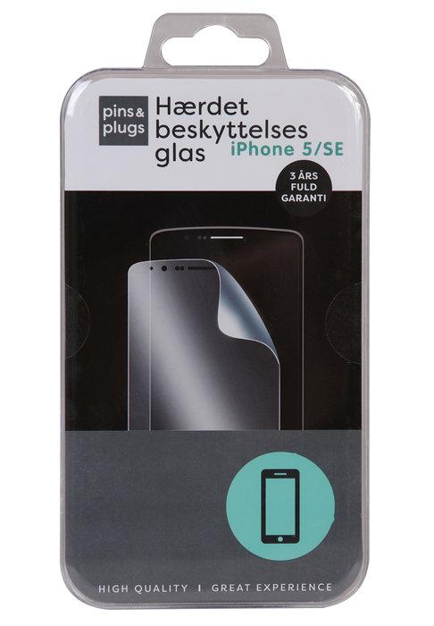 Hærdet beskyttelsesglas til iPhone 5