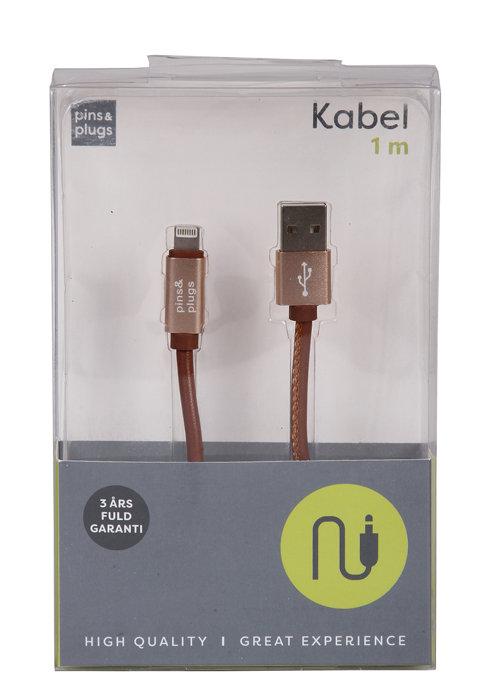 USB-A til lightning kabel - 1 meter