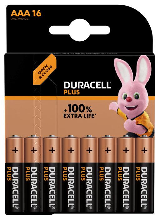 Duracell PLUS Power Batteri AAA - 16-pk.