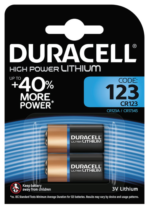 Batteri Duracell Ultra Photo 123
