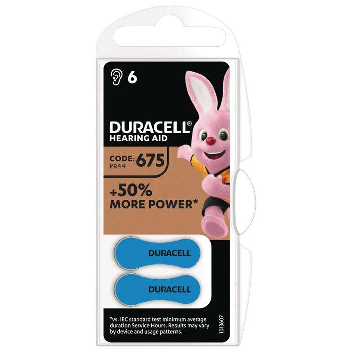 Hörapparatsbatteri DA675 Duracell