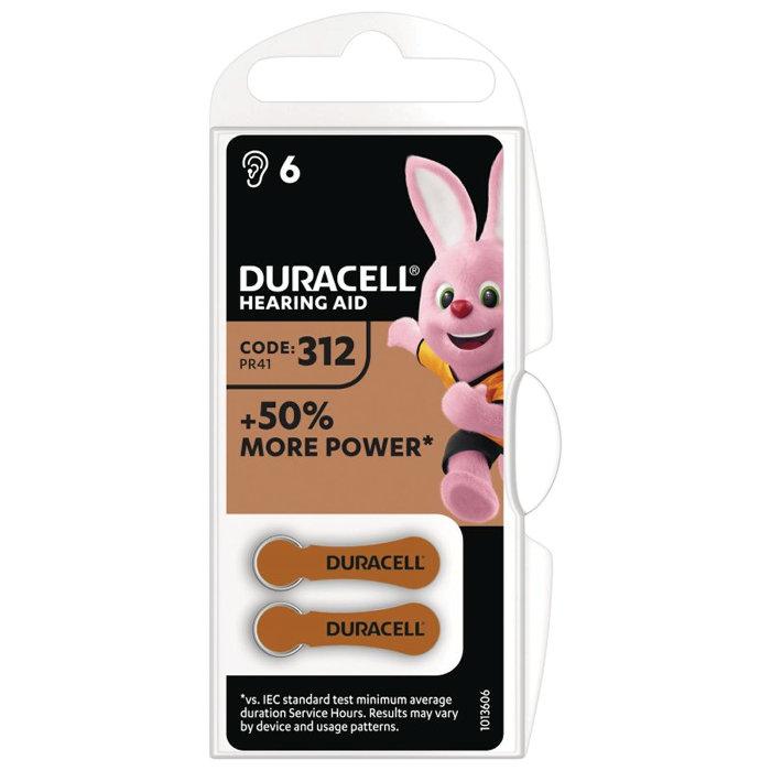 Hörapparatsbatteri DA312 Duracell