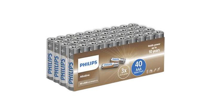 Batteri AAA Philips 40-pack
