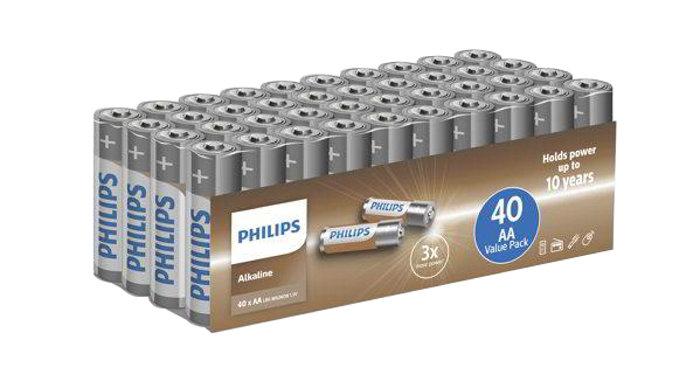 Batteri AA Philips 40-pack