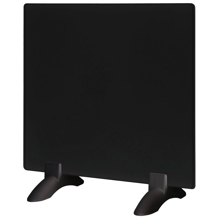 Elektrisk glassradiator 400W svart
