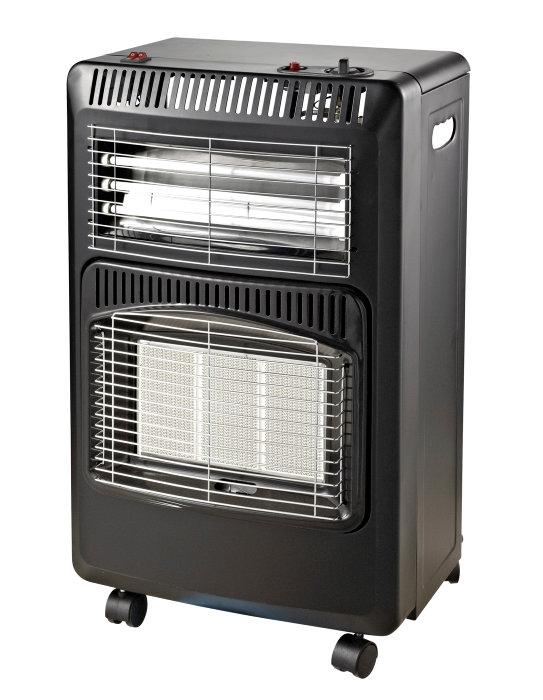 Gasvarmeovn 4,2 kW sammenklappelig + elek. varmeblæser - Grad